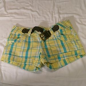 Polo ladies yellow and blue shorts